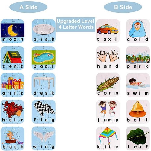 3/4 Letter Educational Puzzle Gift for Kids