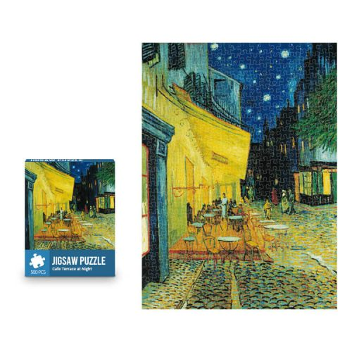 Cafe Terrace at Night Jigsaw Puzzle