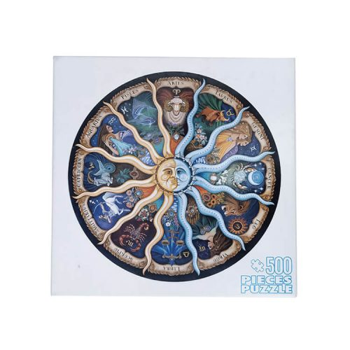 Zodiac Horoscope Puzzle, DIY Constellation Circular Jigsaw Puzzles for Adults