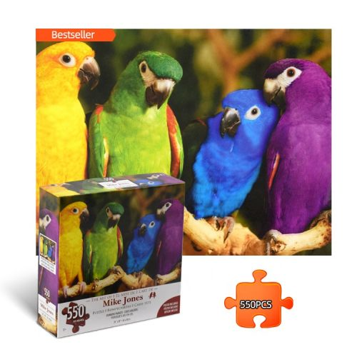 Rainbow Parrots Jigsaw Puzzles