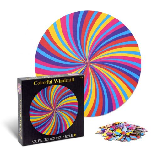 500 Pieces Round Jigsaw Puzzle
