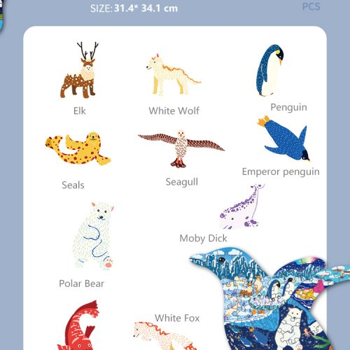 Custom animal art puzzles